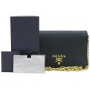 Prada(프라다) 1BP006 SAFFIANO LUX 사피아노 럭스 블랙 컬러 미니 체인 크로스백 [강남본점]