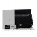 Chanel(샤넬) A58600 캐비어스킨 블랙 클래식 점보 L사이즈 은장 체인 숄더백 [인천점]