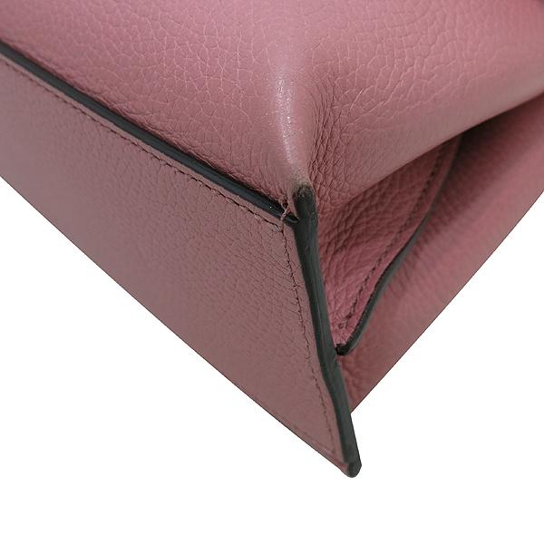 Gucci(구찌) 370831 소프트 핑크 레더 뱀부 락 장식 데일리 플랩 토트백 + 숄더스트랩 [인천점] 이미지5 - 고이비토 중고명품