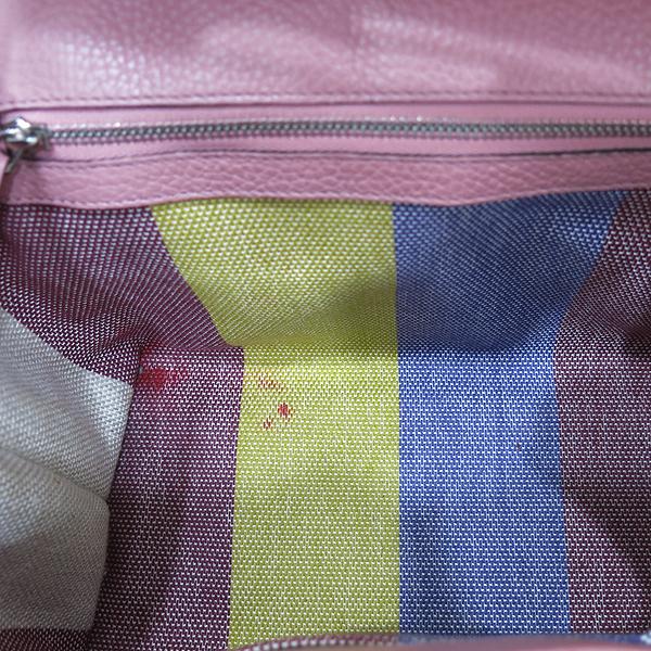 Gucci(구찌) 370831 소프트 핑크 레더 뱀부 락 장식 데일리 플랩 토트백 + 숄더스트랩 [인천점] 이미지6 - 고이비토 중고명품