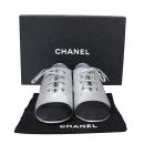 Chanel(샤넬) G32843 COCO로고 은장 메탈릭 투톤 옥스포드 여성용 로퍼 [동대문점]