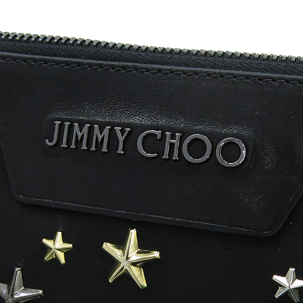 JIMMY CHOO(지미추) 은장 로고 장식 DEREK 스타 장식 클러치 [강남본점] 이미지4 - 고이비토 중고명품