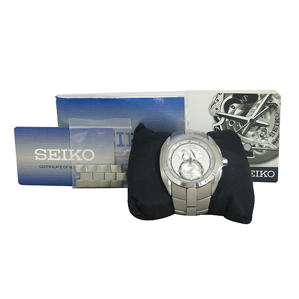 SEIKO(세이코) SNL045J ARCTURA(악츄라) 키네틱 크로노그래프 스틸 남성용 시계 [동대문점]