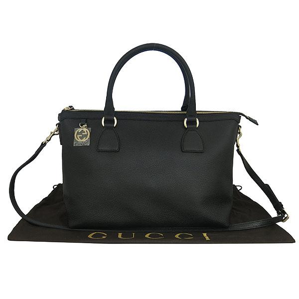 Gucci(구찌) 449650 블랙 레더 인터로킹 G 참 장식 2WAY [동대문점]