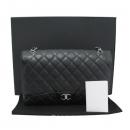 Chanel(샤넬) A47600Y01588 캐비어스킨 블랙 클래식 맥시 사이즈 은장 체인 숄더백 [대구반월당본점]