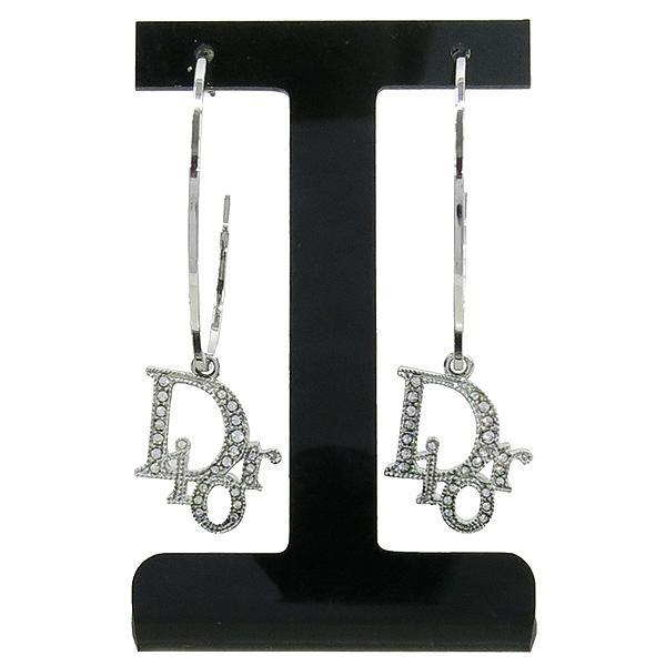 Dior(크리스챤디올) D60700 큐빅 로고 장식 펜던트 귀걸이 [강남본점] 이미지2 - 고이비토 중고명품