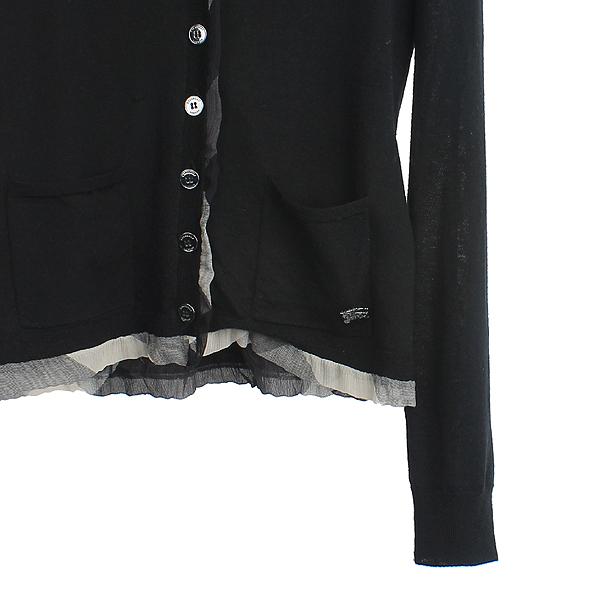 Burberry(버버리) 3761441 울 100% 블랙 컬러 로고 디테일 체크 포인트 여성용 가디건 [강남본점] 이미지3 - 고이비토 중고명품
