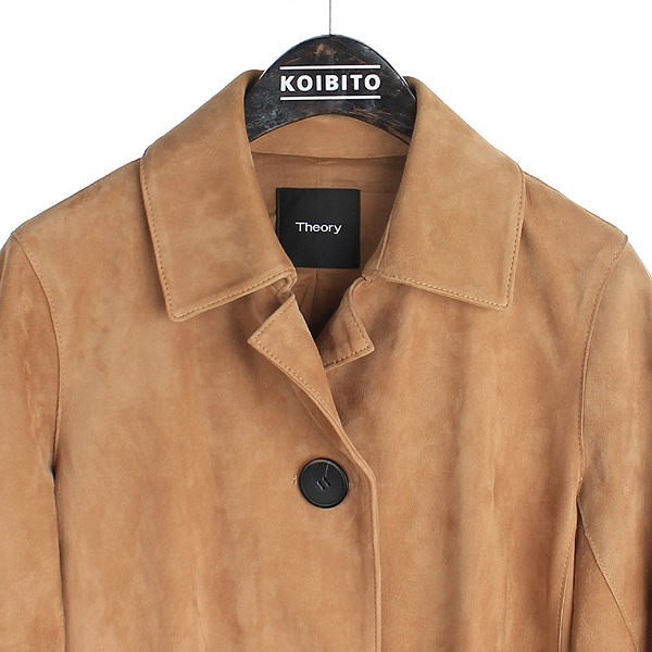 THEORY(띠어리) 114845673 브라운 스웨이드 PIAZZA 여성용 코트 [대전본점] 이미지2 - 고이비토 중고명품