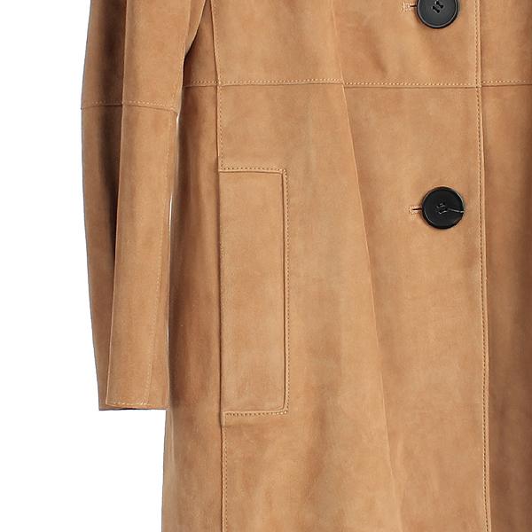 THEORY(띠어리) 114845673 브라운 스웨이드 PIAZZA 여성용 코트 [강남본점] 이미지3 - 고이비토 중고명품