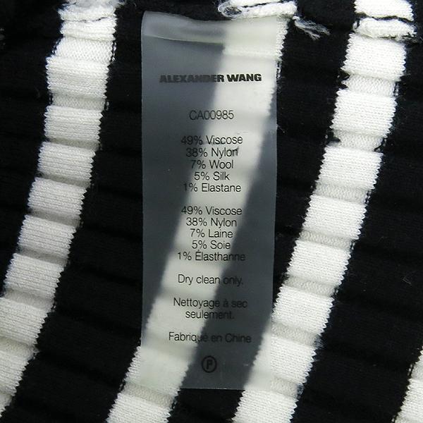 Alexanderwang(알렉산더왕) 비스코스 혼방 블랙 화이트 스트라이프 패턴 여성용 티 [강남본점] 이미지5 - 고이비토 중고명품