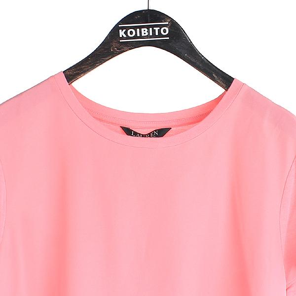 Polo Ralphlauren(폴로) 여성용 핑크 컬러 롱 반팔 티 [강남본점] 이미지2 - 고이비토 중고명품