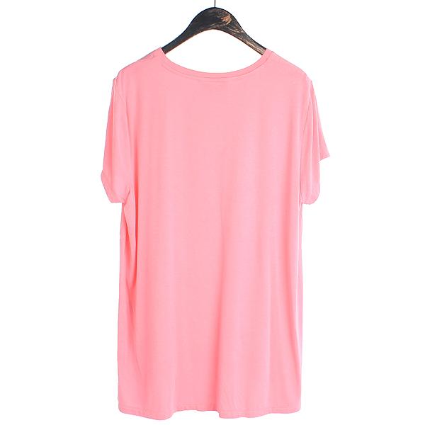 Polo Ralphlauren(폴로) 여성용 핑크 컬러 롱 반팔 티 [강남본점] 이미지3 - 고이비토 중고명품