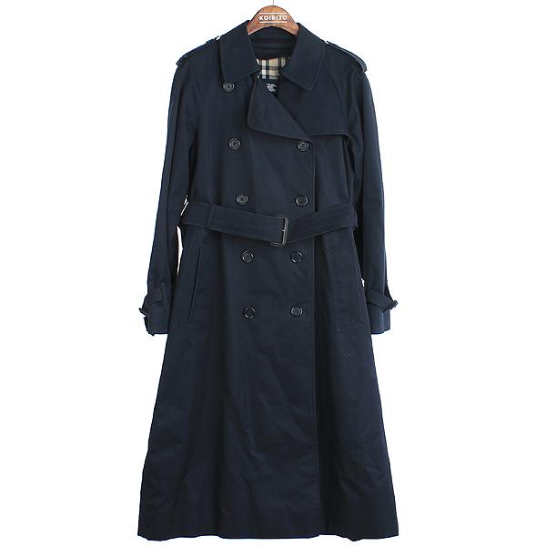 Burberry(버버리) 런던 네이비 컬러 면 혼방 트렌치 코트 [강남본점]