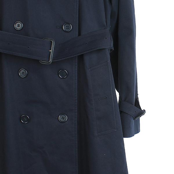 Burberry(버버리) 런던 네이비 컬러 면 혼방 트렌치 코트 [강남본점] 이미지3 - 고이비토 중고명품