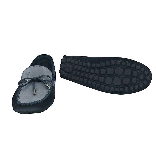 Louis Vuitton(루이비통) 애리조나 모카신 네이비 그레이 스웨이드 드라이빙 슈즈 [부산센텀본점] 이미지2 - 고이비토 중고명품