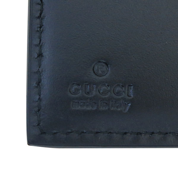 Gucci(구찌) 407416 블랙 시마레더 GG 로고 남성용 반지갑 [부산센텀본점]