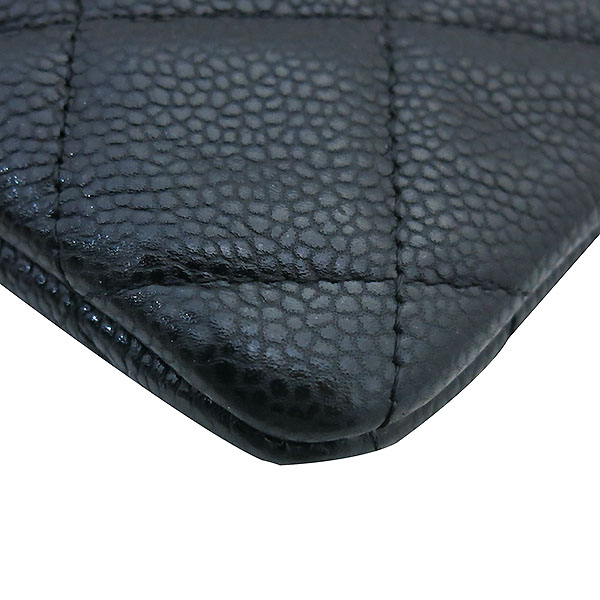 Chanel(샤넬) 블랙 캐비어스킨 금장 COCO로고 백포켓 XL사이즈 클러치백 [부산센텀본점] 이미지5 - 고이비토 중고명품