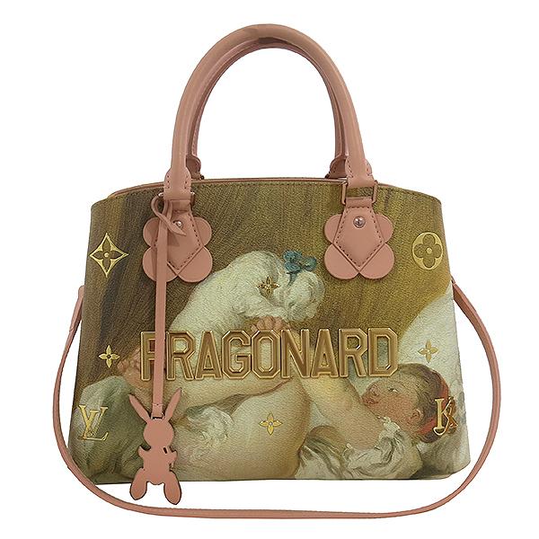 Louis Vuitton(루이비통) M43386 FRAGONARD 장 오노레 프라고나르 마스터즈 컬렉션 [소녀와 강아지] 몽테뉴 MM 토트백 + 숄더스트랩 2WAY [대구동성로점]