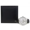 Montblanc(몽블랑) 11482 헤리티지 크로노메트리 트윈 카운터 데이트 오토매틱 블랙 엘리게이터 레더 악어 가죽 밴드 남성용 시계 [강남본점]