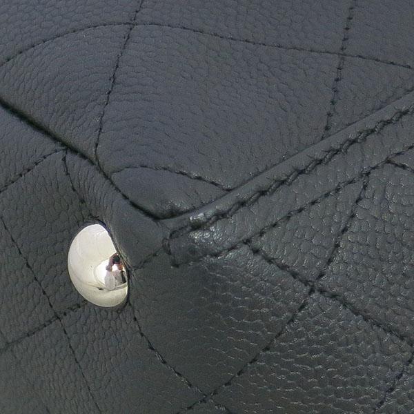 Chanel(샤넬) 블랙 캐비어 COCO로고 퀼팅 스티치 shopping(쇼핑) 은장 체인 숄더백 [동대문점] 이미지5 - 고이비토 중고명품