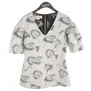 MARNI(마르니) 그레이 컬러 프린팅 패턴 여성용 반팔 티셔츠 [강남본점]