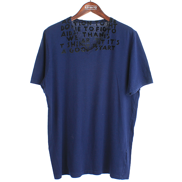 MARTIN MARGIELA (마틴 마르지엘라) 네이비 컬러 V넥 남성용 티셔츠 [강남본점]