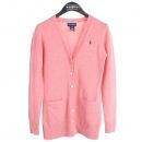 Ralphlauren(랄프로렌) 울 100% 핑크 컬러 로고 포인트 여성용 가디건 [강남본점]
