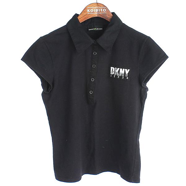 DKNY(도나카란) 면 혼방 로고 포인트 블랙 컬러 여성용 카라 티 [강남본점]