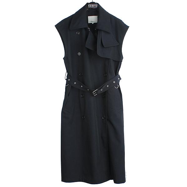 3.1 PHILLIP LIM(필립림) e182 8335 tet Oversized 네이비 wool-twill 트렌치 여성용 코트 +벨트 (set) [강남본점]