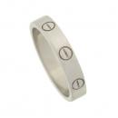 Cartier(까르띠에) B4085100 18K 화이트 골드 미니 러브링 반지-12호 [강남본점]