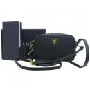 Prada(프라다) 1N1674 블랙 사피아노 SAFFIANO 금장 로고 슈퍼미니 크로스백 [대전시청점]