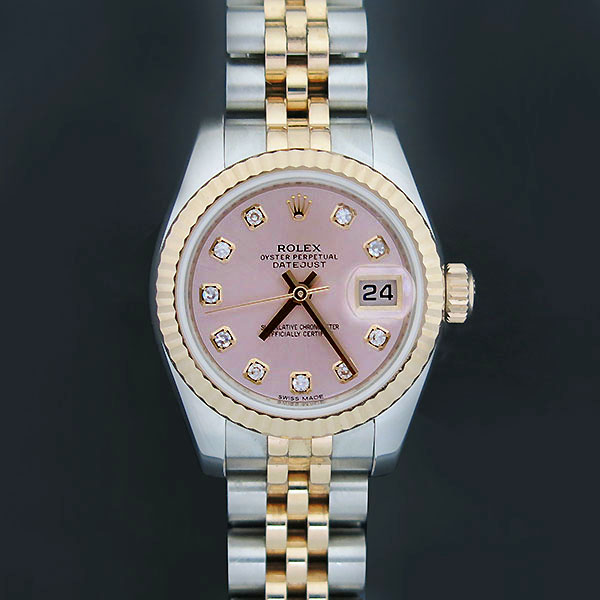 Rolex(로렉스) 179171 18K 핑크 골드 콤비 10포인트 다이아 DATE JUST(데이저스트) 여성용 시계 [부산센텀본점]