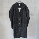 Vivienne_Westwood(비비안 웨스트우드) 블랙 컬러 체크 패턴 여성용 코트 [동대문점]