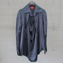 Vivienne_Westwood(비비안 웨스트우드) 네이비 컬러 셔링 장식 여성용 블라우스 [동대문점]