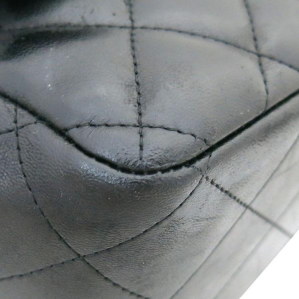 Chanel(샤넬) A58600 램스킨 블랙 클래식 점보 L사이즈 은장로고 체인 플랩 숄더백 [부산센텀본점] 이미지5 - 고이비토 중고명품