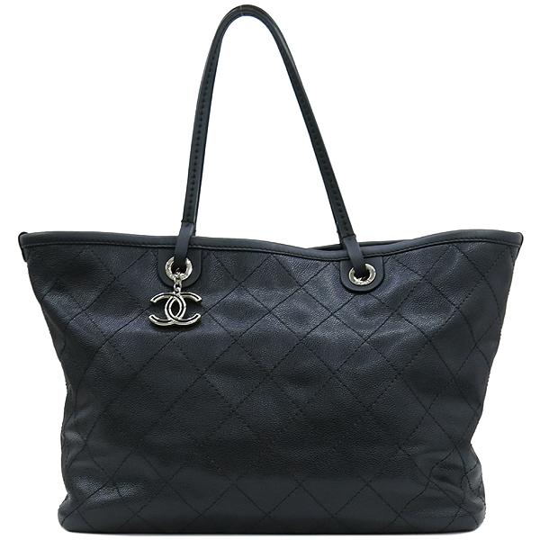 Chanel(샤넬) COCO로고 장식 캐비어스킨 스티치 레더 쇼퍼 숄더백 + 보조 파우치 [강남본점] 이미지2 - 고이비토 중고명품