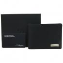 Dupont(듀퐁) 은장 로고 장식 블랙 레더 남성용 지갑 [강남본점]