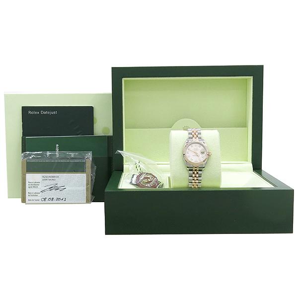 Rolex(로렉스) 179171 DATEJUST 데이트저스트 핑크메탈릭 다이얼 10포인트 다이아 18K 핑크골드 콤비 스틸 쥬빌레 밴드 여성용시계 [강남본점]