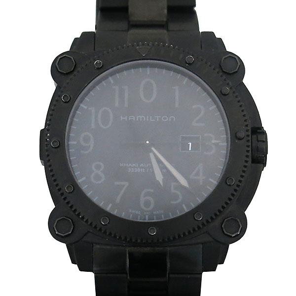 HAMILTON(해밀턴) H785850 KHAKI NAVY BELOWZERO (카키 네이비 빌로우제로) 블랙 컬러 오토매틱 시계 [부산센텀본점]