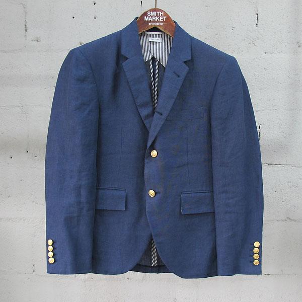 THOM BROWNE(톰브라운) MJC001AW8303 린넨 100% 금장 버튼 블레이저 남성용 자켓 [동대문점]