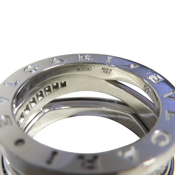 Bvlgari(불가리) B-ZERO1 18K 화이트 골드 라운드 다이아몬드세팅 반지 - 11호 [강남본점] 이미지4 - 고이비토 중고명품