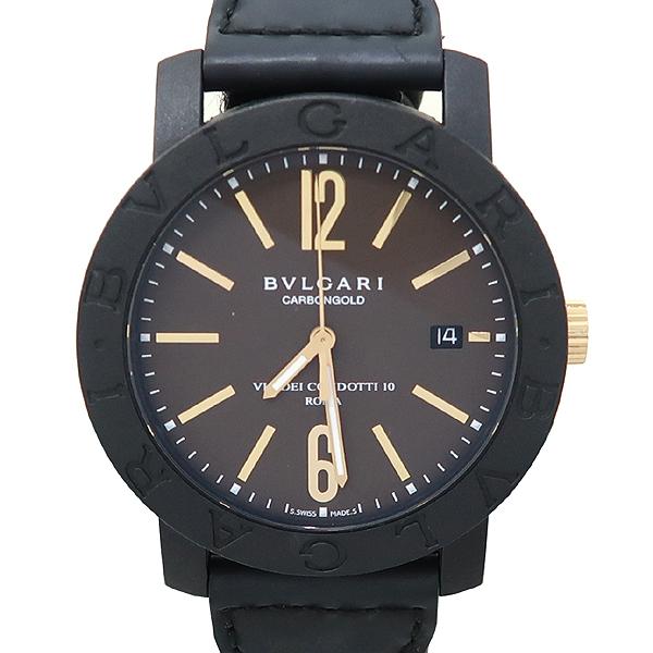 Bvlgari(불가리) BBP40C11CGLD 카본 골드 오토매틱 가죽밴드 시계 [대전본점] 이미지5 - 고이비토 중고명품