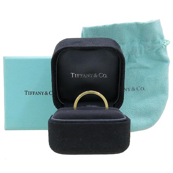 Tiffany(티파니) 18K(750) 옐로우 골드 밀그레인 3MM 반지 18호 [강남본점]