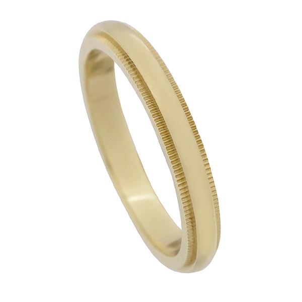 Tiffany(티파니) 18K(750) 옐로우 골드 밀그레인 3MM 반지 18호 [강남본점] 이미지2 - 고이비토 중고명품