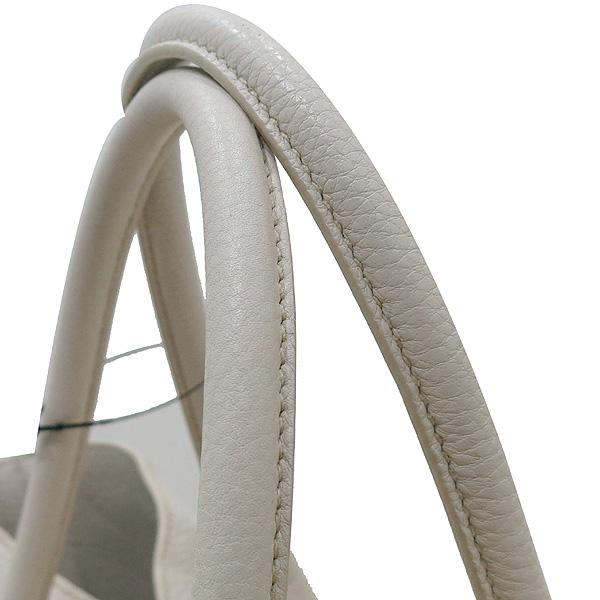 Prada(프라다) BN2537 VIT.DAINO(비텔로다이노) TALCO 아이보리 레더 금장로고 토트백 + 숄더스트랩 2WAY [인천점] 이미지4 - 고이비토 중고명품