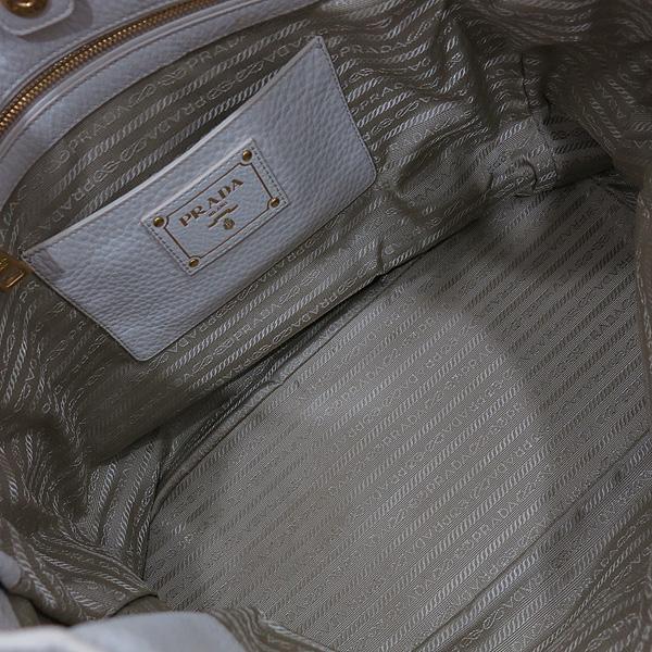 Prada(프라다) BN2537 VIT.DAINO(비텔로다이노) TALCO 아이보리 레더 금장로고 토트백 + 숄더스트랩 2WAY [인천점] 이미지7 - 고이비토 중고명품