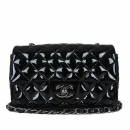 Chanel(샤넬) COCO로고 은장 블랙 페이던트 미니 클래식 크로스백(광주1)