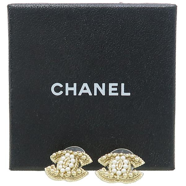 Chanel(샤넬) COCO 로고 진주 커스텀 장식 귀걸이 [강남본점]