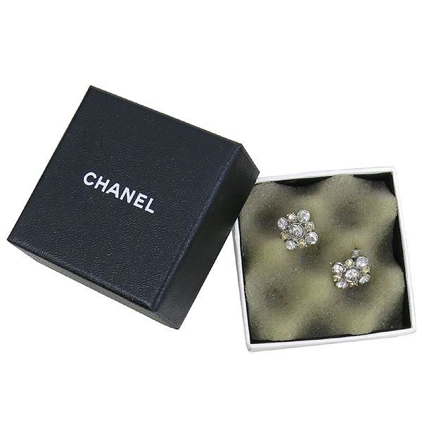 Chanel(샤넬) COCO 은장 큐빅 디테일 장식 귀걸이 [강남본점]