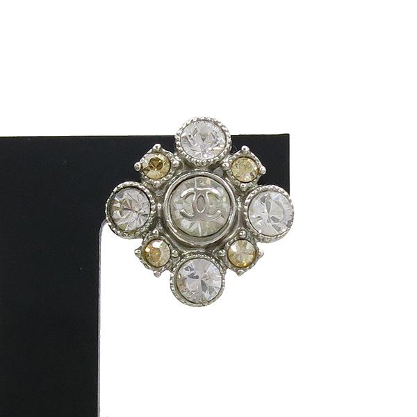 Chanel(샤넬) COCO 은장 큐빅 디테일 장식 귀걸이 [강남본점] 이미지3 - 고이비토 중고명품